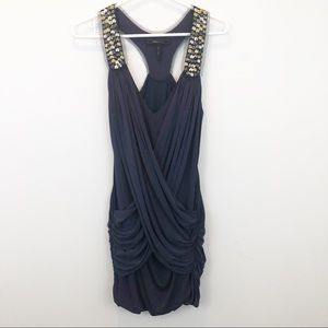 BCBG Maxazria draped wrapped front dress